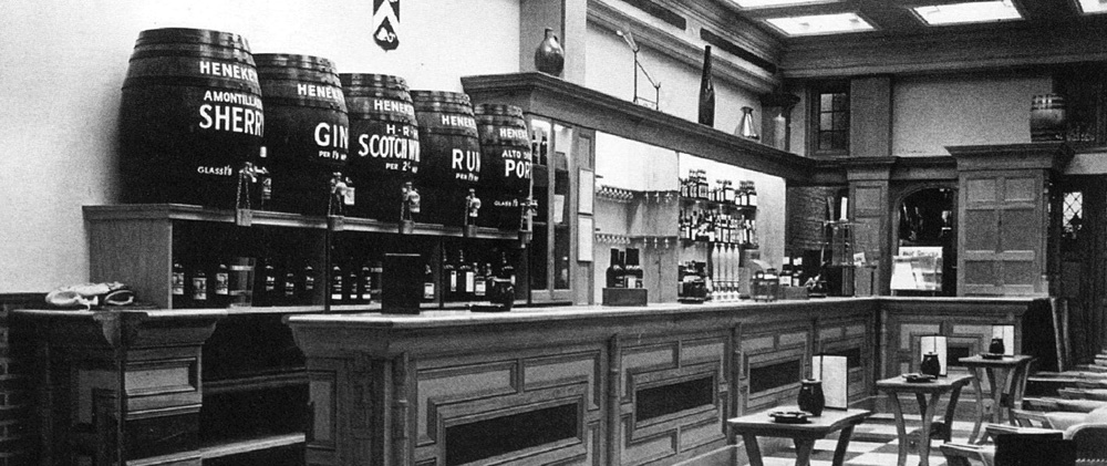 the long bar at Backs Norwich c1960